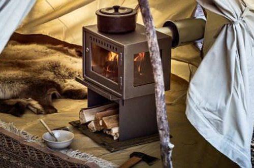 Po le a bois orland toit de coton for Petit poele a bois rectangulaire