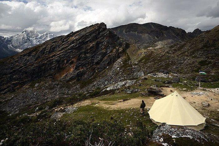 Sibley 500 pro en toile coton à la montagne