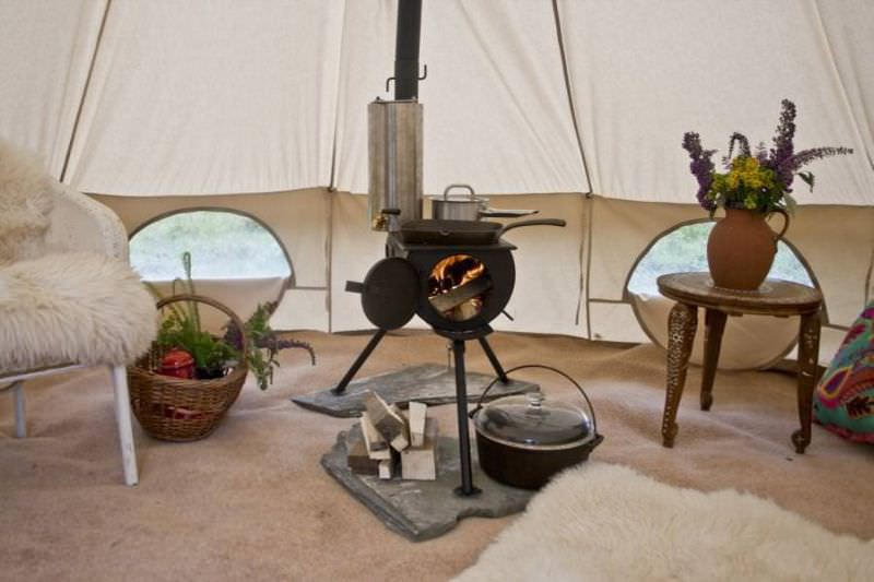 tente camping chauffé
