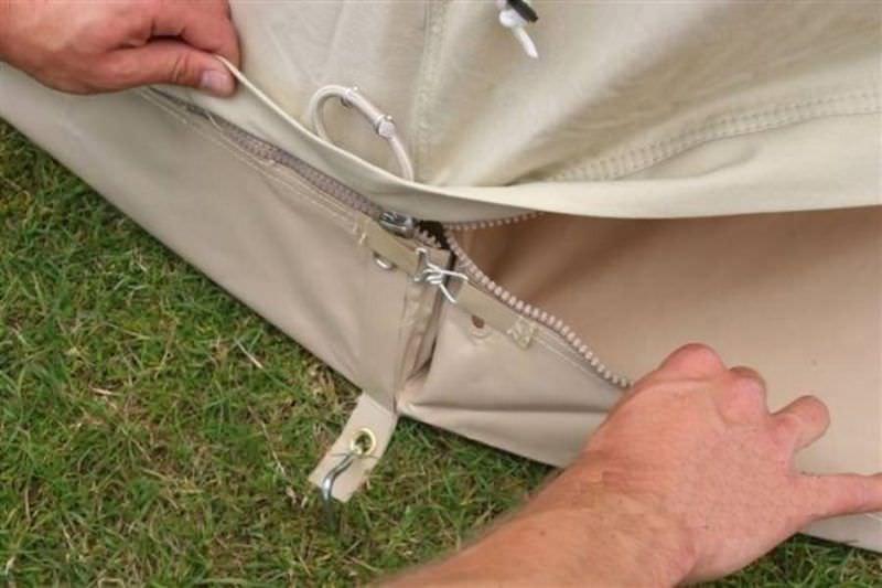 tente camping details fermeture
