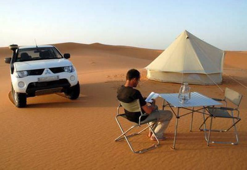 tente camping 2 places desert