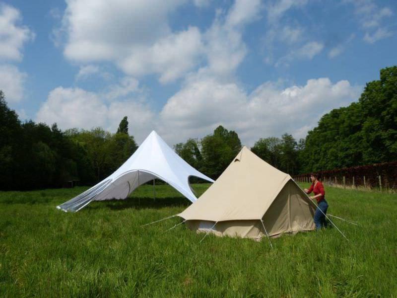 montage toile de tente