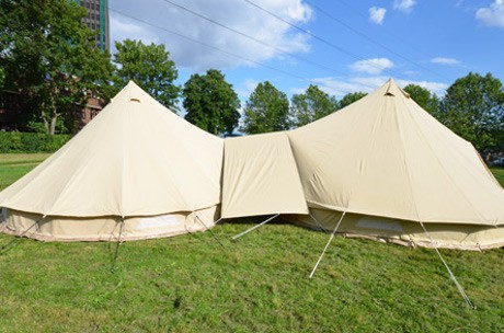 connecter deux tentes entres elles