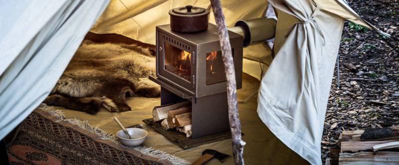 poele bois camping