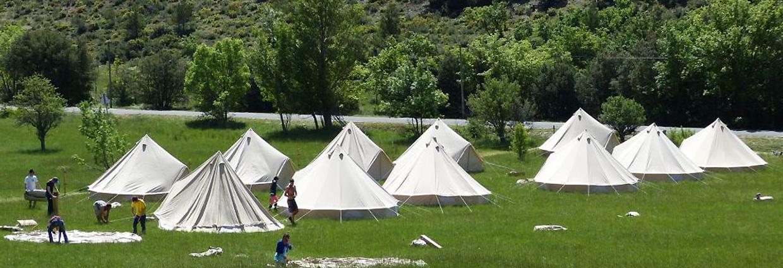 tente sibley camping