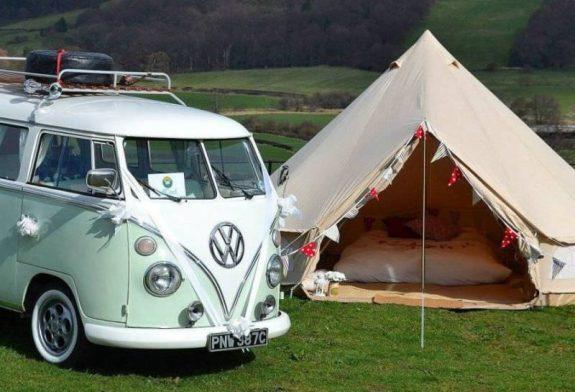magnifique tente Sibley pour le glamping