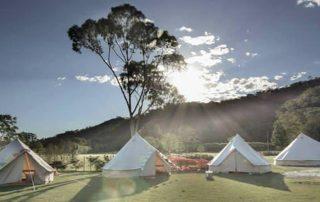 4 tentes Sibley bell ultimate en soirée