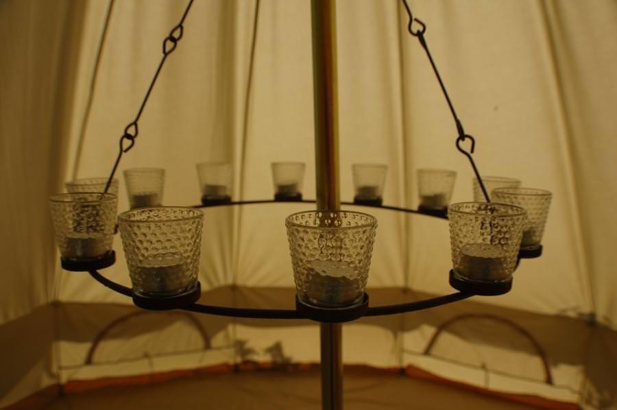 chandelier simple photophores transparents
