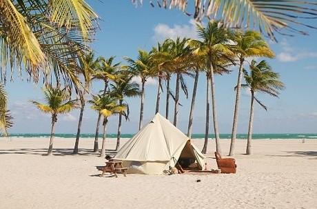 tente sibley plage sable fin