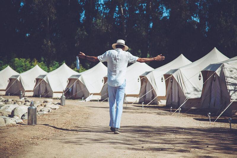 campement de tente roman deluxe