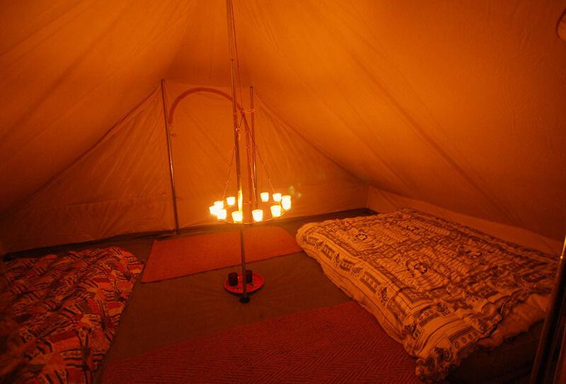 chandelier pour tente en coton sibley