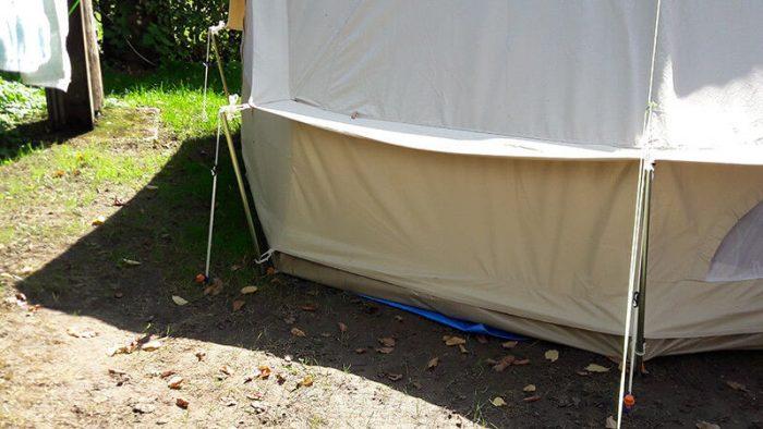 raccourcir les cordes de sa tente